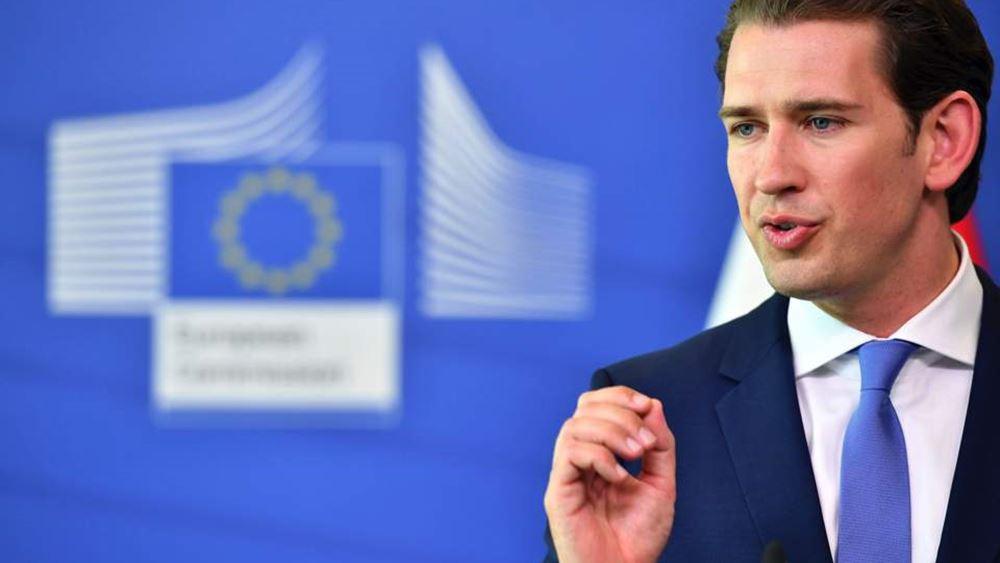 Συνεπή στάση της ΕΕ απέναντι στην Τουρκία ζητά ο Αυστριακός καγκελάριος Κουρτς